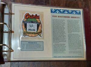 1991 BALTIMORE ORIOLES Willabee Ward MLB Lost Treasures Baseball Team Patch Logo