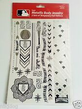 2 Full Sets Seattle Mariners Metallic Body  MLB Temporary Tattoos Foil Jewelry