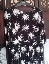 M&S Collection Women's Petite Exclusive Techno Tropical Dress Black Mix Size 10