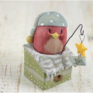 Snow Bird Figurine Winter Friends Egg-Noggins Collection Tabletop Shelf Decor