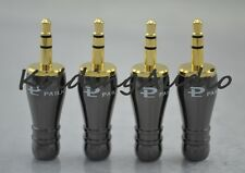"5P Pailiccs Gold 3.5mm 1/8"" Stereo Male Metal Audio Connectors Big Tower Shape"