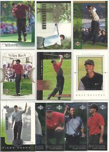 2001 UPPER DECK GOLF COMPLETE SET W/INSERTS 276 CARDS TIGER WOODS RC