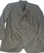 BRIONI Charcoal Wool NOMENTANO 3 Button Suit Size 46 Regular
