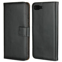 Genuine Leather Flip Wallet Case Cover For Huawei Honor 10
