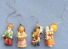 4 Different Vintage Anri Toriart Ornaments: Children w/ Animals Ferrandiz Italy
