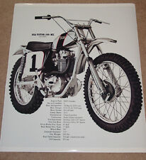 1971 BSA VICTOR 500 MX VINTAGE MOTORCYCLE POSTER 36x30 B-50MX