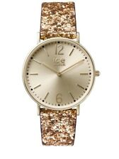Ice Watch City Glitter Gold Sparkly Classy Womens Watch