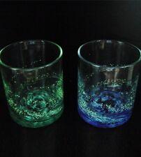 Japanese Okinawa Ryukyu Rocks Shining Glass Blue & Green Set Drink Bar Ware New