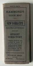 Vintage 1914 Hammond's Guide Map of New York City folding pocket (Wehman Bros.)