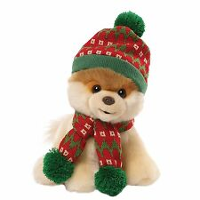 "Classic Boo 9"" Plush with Christmas Holiday Hat and Scarf Brand New"