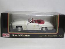 Mercedes-benz 190 sl convertible (1955) en crema, maisto, OVP, 1:18
