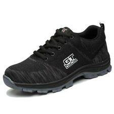 Mens Steel Toe Work Safety Shoes Casual Walking Lightweight Hiking Mesh Sneakers