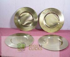 Old Dutch International Hammered Rim Charger Plate, Gold - Set of 4