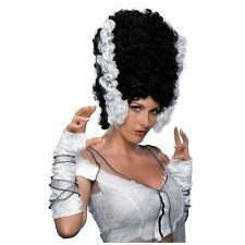 Monster Bride Wig Wife of Frankenstein Tall White Black Halloween Accessory High