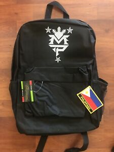 Manny pacquiao BackPack Philippines Patch  Filipino Boxing Jersey Mesh Black New
