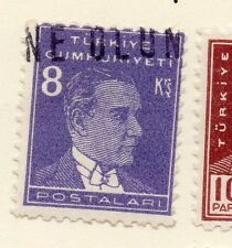Turkey 1950-51 Early Issue Fine Used 8k.