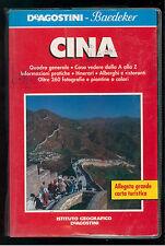 CINA DE AGOSTINI  BAEDEKER 1991 VIAGGI GUIDE ASIA