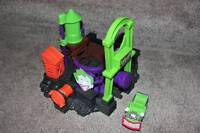 GeoTrax Batman Joker's Lair Set Fisher Price Train Toys Lot DC Comics RARE HTF