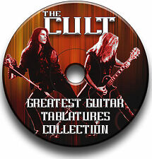 THE CULT HEAVY ROCK GUITAR TAB TABLATURE SONG BOOK  SOFTWARE LIBRARY CD