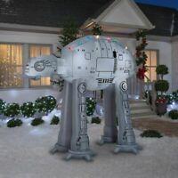 CHRISTMAS SANTA STAR WARS AT-AT  INFLATABLE AIRBLOWN YARD DECORATION 9 FT