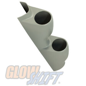 GlowShift Gray Dual Gauge 52mm Pillar Pod for 1994-2001 Acura Integra