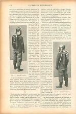 Appareil Respiratoire Vanginot & Guglieminetti Sauvetage Mine GRAVURE PRINT 1906