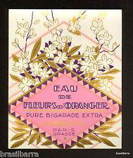 10 ETIQUETTES PARFUM : EAU DE FLEURS D'ORANGER de GIRAUD