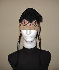 Marmot Wool Blend Toboggan Hat Women's One Size Brown/Black