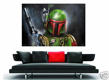 "Canvas 32""  star wars movie film boba fett  pop Art print not banksy"