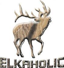 """ELKAHOLIC WILDLIFE  ELK DECAL 6"""" x 6"""""""