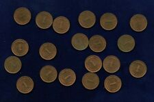 GERMANY EMPIRE  1914-F  1 PFENNIG COIN, UNCIRCULATED, GROUP LOT OF (20)