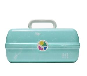 Caboodles On the Go Girl Classic Makeup Case + Mirror Green Marble NEW T3 Aqua