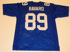 MARK BAVARO unsigned blue current pro style jersey mens adult XL