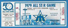1979 MLB All-Star Game Full Ticket - Rare! Seattle Kingdome 15 Baseball HOFers