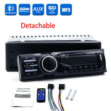 1 DIN Car Stereo 12V FM Radio SD/USB/AUX Bluetooth Remote MP3 Player Detachable