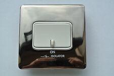 legrand Synergy 7314 09 10A 3 Pole Isolator Switch modern polished black nickel