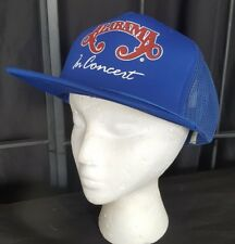 Vintage 80's Alabama in Concert Blue Retro Country Snap Back Trucker Hat