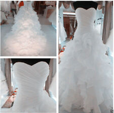 Newest White/Ivory Wedding Dress Bridal Gown Organza Stock Size 2-16+ or Custom