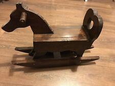 Vintage Handmade Rocking Horse