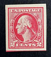 US Stamps, Scott #532 1920 2c Imperf XF/Superb M/NH Type IV. Gorgeous specimen!