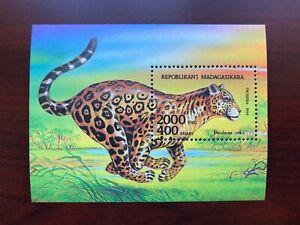 Madagascar 1994 Scott #1189 Souvenir Sheet Jaguar Mint NH