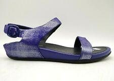 Fit Flop FF 2 Blue Shimmer Leather Buckle Fashion Sandals Shoes Women's 38 / 7