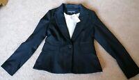 Warehouse Black Tailored Suit Blazer Jacket Coat UK Size 12 New RRP £75