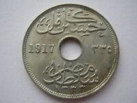 Egypt 1917-H copper nickel 10 Milliemes UNC