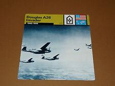 DOUGLAS A26 INVADER 1942-1945 US AIR FORCE AVIATION FICHE WW2 39-45