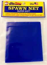 ATLAS MIKE'S SUPER SOFT SPAWN NETTING (BLUE) 3 in. x 3 in. SQUARES **NEW**