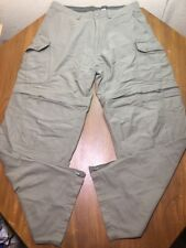 "Mens REI Convertible Pants 34x32"" Measured Shorts Hiking Fishing Camping Olive"