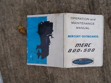 1971 Kiekhafer Mercury Merc 800 500 HP Outboard Owner Operation Manual  S