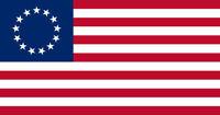 Betsy Ross Flag Bumper Vinyl Sticker Decal Revolution 13 Stars United