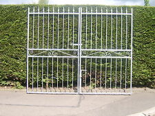 Wrought Iron double driveway gates 6ft tall for a opening of 7ft 6ins opening